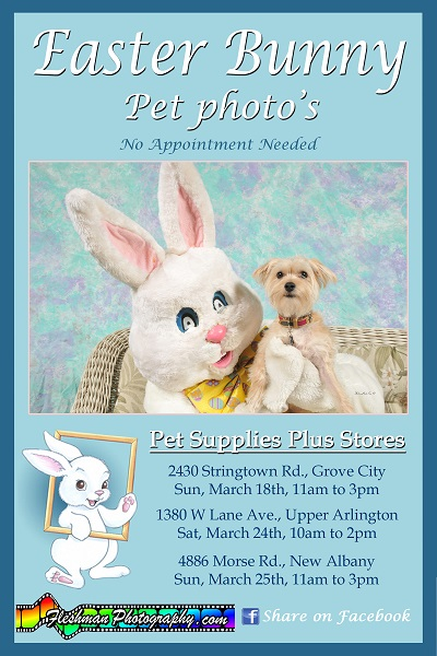 Fleshman Photography Easter Pet Photo Flyer-2018